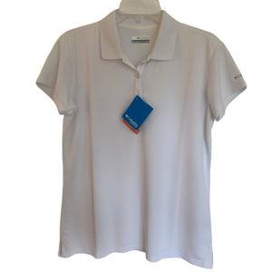 Columbia Sportswear White Golf/Tennis Shirt - NWT